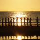 Yoga aan het strand