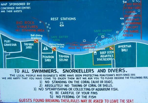 Map diving spots